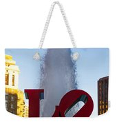 Love Statue In Philadelphia Pa Weekender Tote Bag