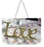 Love Word At A Wedding Weekender Tote Bag