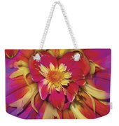 Loveflower Orangered Weekender Tote Bag