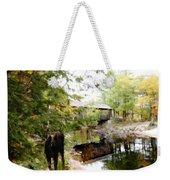Lovejoy Covered Bridge And Moose Weekender Tote Bag