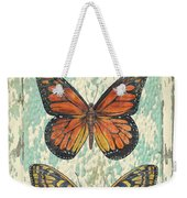 Lovely Butterfly Trio On Tin Tile Weekender Tote Bag