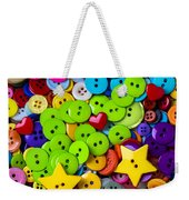 Lovely Buttons Weekender Tote Bag