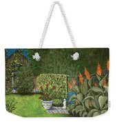 Lovely Green Weekender Tote Bag by Anastasiya Malakhova