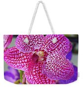 Orchid Lovely In Pink And White Weekender Tote Bag
