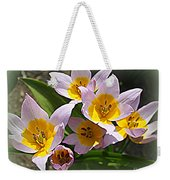 Lovely In White And Yellow - Tulips Weekender Tote Bag