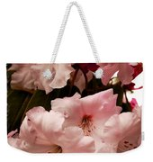Lovely Pink Rhododendrons With Border Weekender Tote Bag