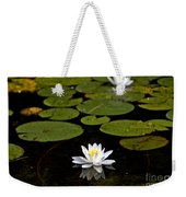 Lovely Pond Lily Weekender Tote Bag