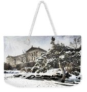 Lovely Snow On The Museum Weekender Tote Bag