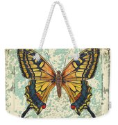 Lovely Yellow Butterfly On Tin Tile Weekender Tote Bag