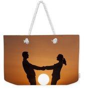Lovers And Setting Sun Weekender Tote Bag