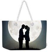 Lovers In Front Of A Full Moon Weekender Tote Bag