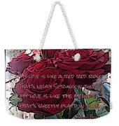 Lover's Roses Weekender Tote Bag