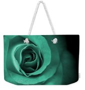 Love's Eternal Teal Green Rose Weekender Tote Bag