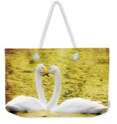 Loving Swans Weekender Tote Bag by Tommytechno Sweden