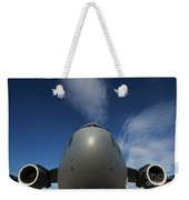 Low Angle View Of A C-17 Globemaster Weekender Tote Bag