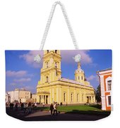 Low Angle View Of A Cathedral, Peter Weekender Tote Bag