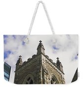 Low Angle View Of A Church, Trinity Weekender Tote Bag
