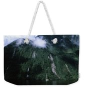 Low Angle View Of A Mountain, Milford Weekender Tote Bag