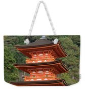 Low Angle View Of A Small Pagoda Weekender Tote Bag