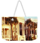 Low Angle View Of Historic Houses Weekender Tote Bag