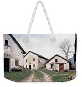 Low Angle View Of Houses In A Village Weekender Tote Bag