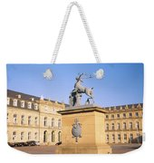 Low Angle View Of Statues In Front Of A Weekender Tote Bag