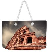 Low Angle View Of The Roman Colosseum Weekender Tote Bag by Stefano Senise