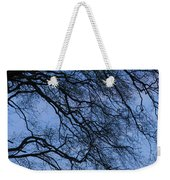 Low Angle View Of Tree At Dawn, Dark Weekender Tote Bag