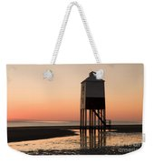 Low Lighthouse Sunset Weekender Tote Bag