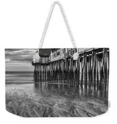 Low Tide At Orchard Beach Black And White Weekender Tote Bag by Jerry Fornarotto