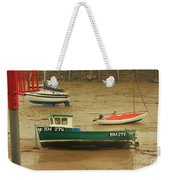 Low Tide Blues Weekender Tote Bag