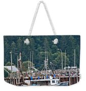 Low Tide Fishing Boat Weekender Tote Bag