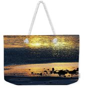 Low Tide Gold Weekender Tote Bag