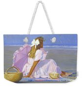 Low Tide Lady Weekender Tote Bag