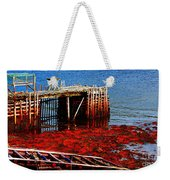 Low Tide - Red Seaweed - Fishing - Moratorium Weekender Tote Bag