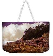 Low Tide Shoreline Closeup With Clouds Weekender Tote Bag