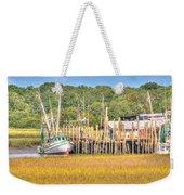 Low Tide - Shrimp Boat Weekender Tote Bag