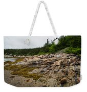 Low Tide - Walking On The Bottom Of Saint Lawrence River Weekender Tote Bag