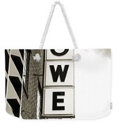 Lowe Drug Store Sign Bw Weekender Tote Bag by Andee Design