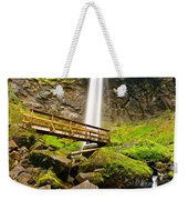 Lower Angle Of Elowah Falls In The Columbia River Gorge Of Oregon Weekender Tote Bag