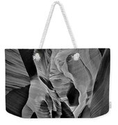 Lower Antelope Glow Black And White Weekender Tote Bag