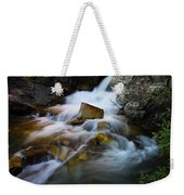 Lower Apikumi Falls Glacier National Park Weekender Tote Bag