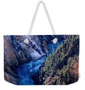 Lower Falls Into Yellowstone River Weekender Tote Bag