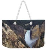 Lower Falls Of The Yellowstone River Weekender Tote Bag