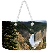 Lower Falls On The Yellowstone River Weekender Tote Bag