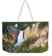 Lower Falls Yellowstone 2 Weekender Tote Bag