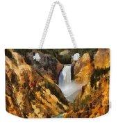 Lower Falls Yellowstone Weekender Tote Bag
