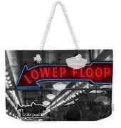 Lower Floor Selective Black And White Weekender Tote Bag