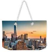 Lower Manhattan At Sunset Weekender Tote Bag