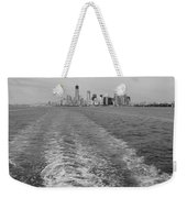 Lower New York In Black And White Weekender Tote Bag